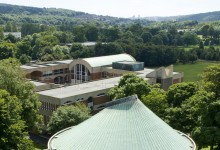 High angle shots of campus