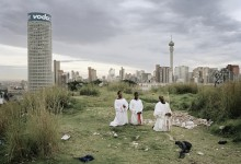 © Mikhael Subotzky/Magnum Photos. SOUTH AFRICA. Ponte City from Yeoville Ridge, Johannesburg, 2008